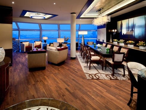 The 1,636-square-foot Reflection Suite is the largest suite ever on a Celebrity ship -- and one of the largest on any vessel afloat. It has a 194-square-foot balcony and can accommodate up to six guests.