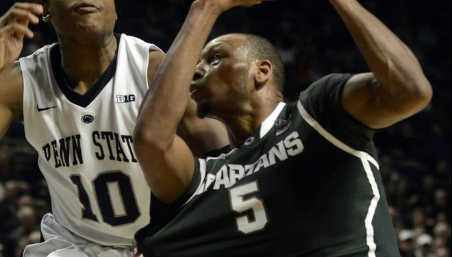 Michigan State's Adreian Payne scored a career-high 20 points after being benched in the first half and part of the second.