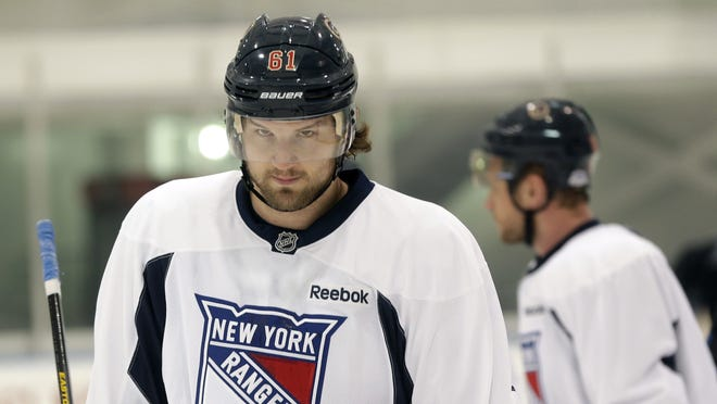 New York Rangers winger Rick Nash had spent his entire career with the Columbus Blue Jackets before seeking a trade.