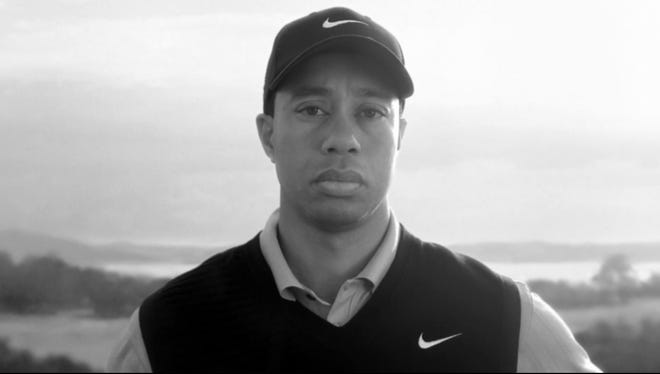 The rehabilitation of Tiger Woods was helped along by this Nike commercial that began airing in April 2010, in which Woods said nothing while a recording of his late father is heard, speaking about taking responsibility.