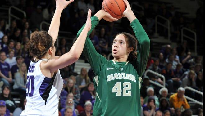 Baylor center Brittney Griner scored 29 points in her team's win over Kansas State on Wednesday night.