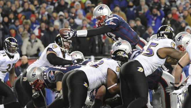 Will Tom Brady and the Patriots vault the Ravens in the playoffs for the second consecutive year?
