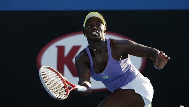 Sloane Stephens, who advanced Thursday with a 6-4, 6-3 victory against Kristina Mladenovic of France, is one of five American women into the third round.
