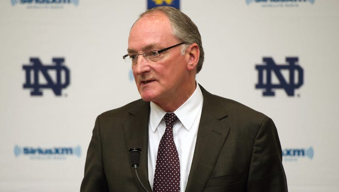 Jack Swarbrick addresses the news media about the Manti Te'o girlfriend hoax, but made no such public comments after Lizzy Seeberg died.