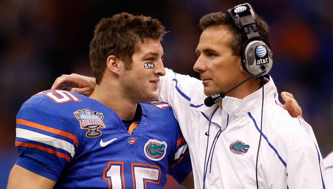 Tim Tebow and Urban Meyer won two national championships together at Florida.
