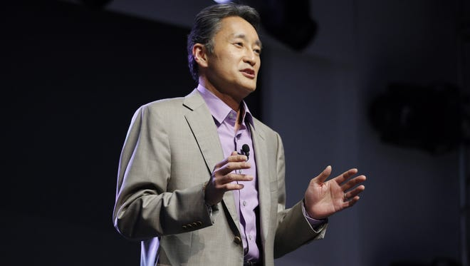 Sony CEO Kazuo Hirai speaks during a news conference at the International Consumer Electronics Show in Las Vegas last week.