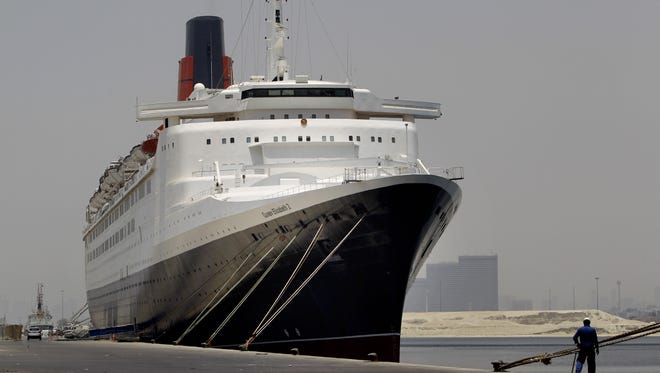 The ocean liner Queen Elizabeth 2 docked in Dubai in 2012.