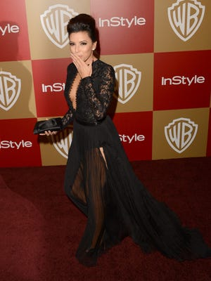Eva Longoria attends the 14th Annual Warner Bros. and InStyle Golden Globe Awards party  at the Beverly Hilton Hotel on Jan. 13.