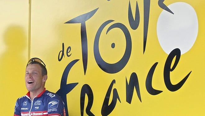 Lance Armstrong, US Postal Service team leader at the 2004 Tour de France.