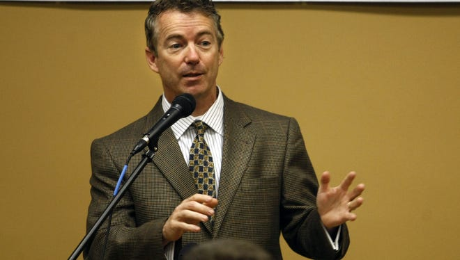 Sen. Rand Paul, R-Ky., addresses the Oldham, Ky., Chamber & Economic Development group Thursday, Jan. 17, 2013.