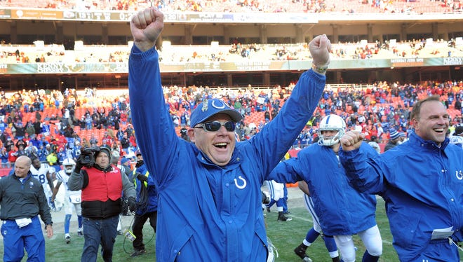 Bruce Arians led the Colts to a 9-3 record in 2012 while filling in for Chuck Pagano.