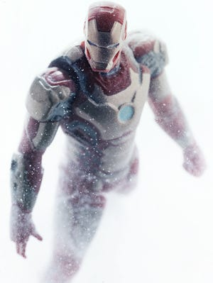 """Hasbro's new """"Assemblers"""" toy line reflects Robert Downey Jr.'s new armor in """"Iron Man 3."""""""