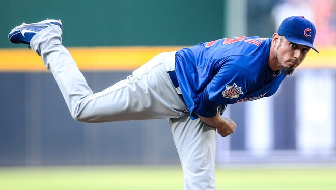 Matt Garza went  5-7 with a 3.91 ERA in 18 starts last season with the Cubs.