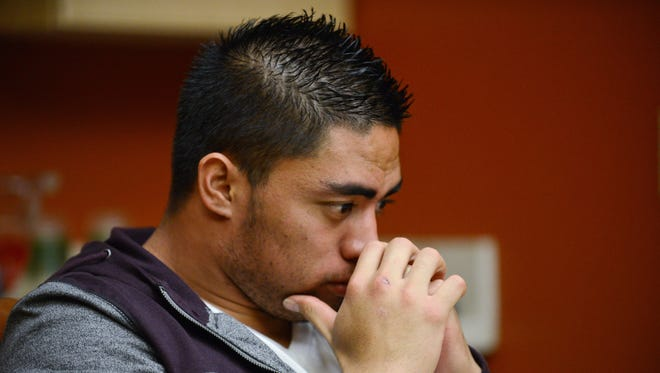 In a photo provided by ESPN, Notre Dame linebacker Manti Te'o pauses during an interview with ESPN on Jan. 18, 2013, in Bradenton, Fla.