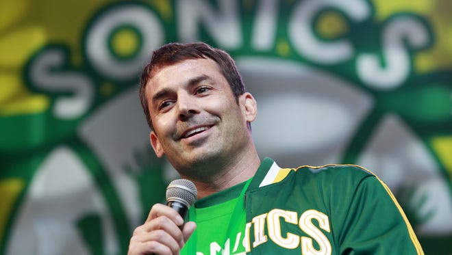 Seattle billionaire Chris Hansen, shown June 14, leads a group that has agreed to buy the Sacramento Kings with the intention of moving them to Seattle.