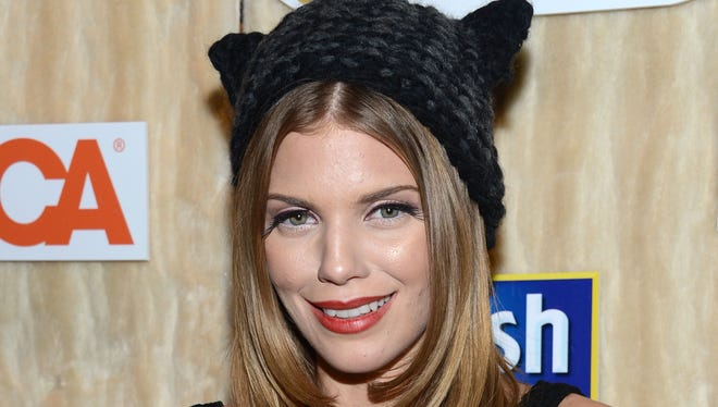 AnnaLynne McCord gets into the spirit of Catdance.