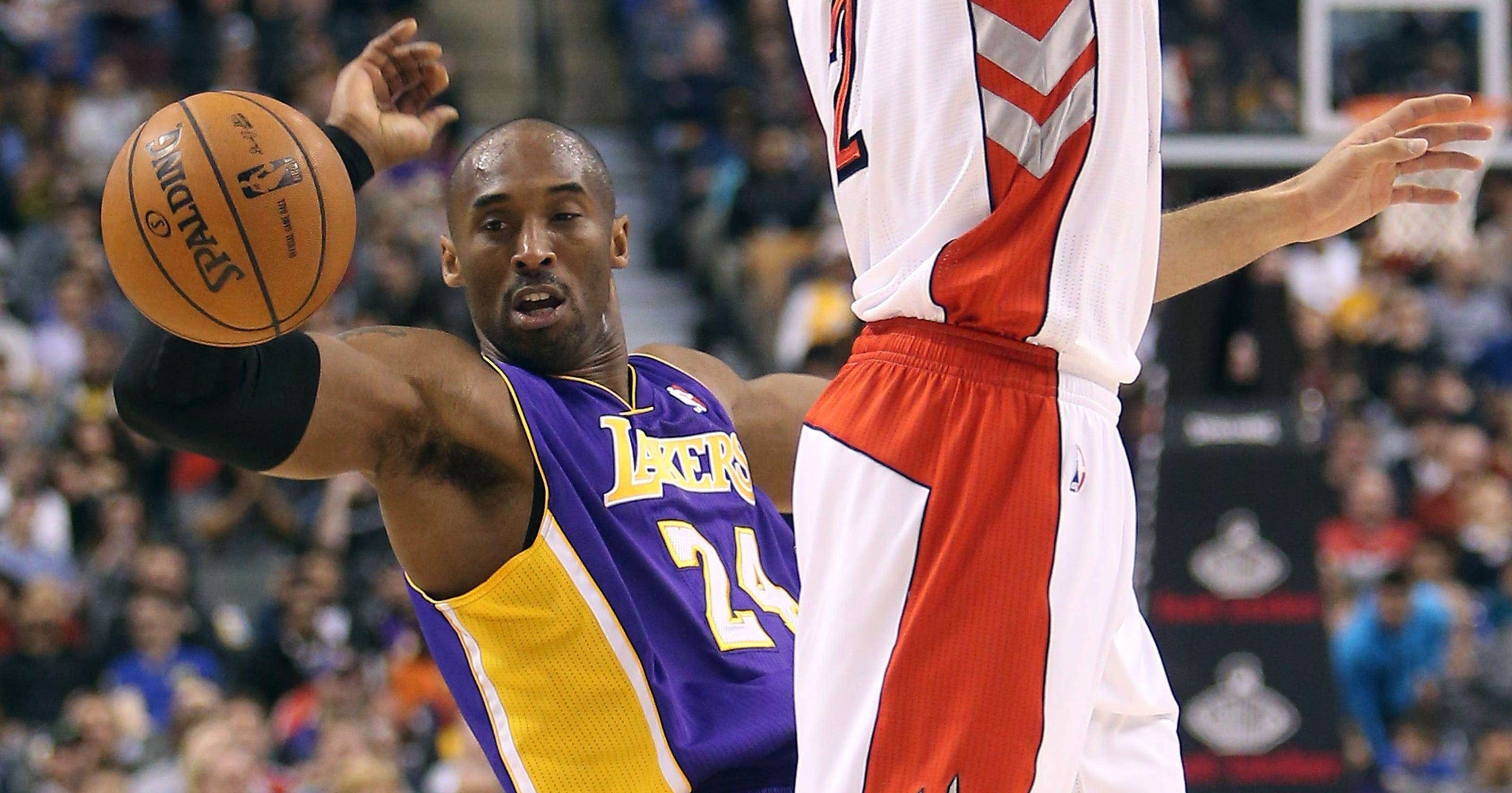 0e4c296c463e Kobe Bryant s poor shooting buries Lakers vs. Raptors