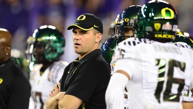 New Oregon coach Mark Helfrich has high expetations to meet, but his peers think he is up to the task.
