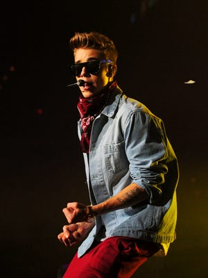 Justin Bieber performs during Power 96.1's Jingle Ball 2012 at Phillips Arena on Dec. 12, 2012 in Atlanta.