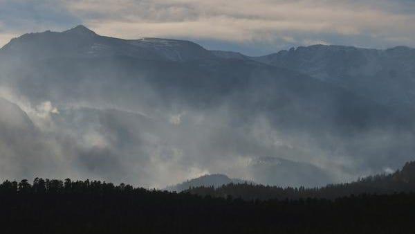 Scenes from the Fern Lake fire near Estes Park, Colo., on Dec. 2, 2012.