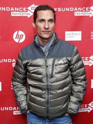 Matthew McConaughey poses at the premiere of 'Mud' during the 2013 Sundance Film Festival on Saturday in Park City, Utah.