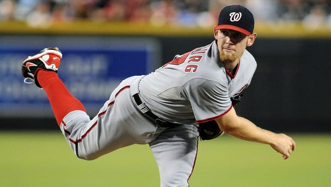 The Nationals say Stephen Strasburg, who was shut down after pitching 159 1/3 innings in 2012, won't be on an innings limit this season.