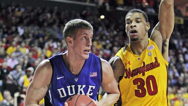 Duke forward Mason Plumlee and the Blue Devils meet rival Maryland in an ACC clash on Saturday.