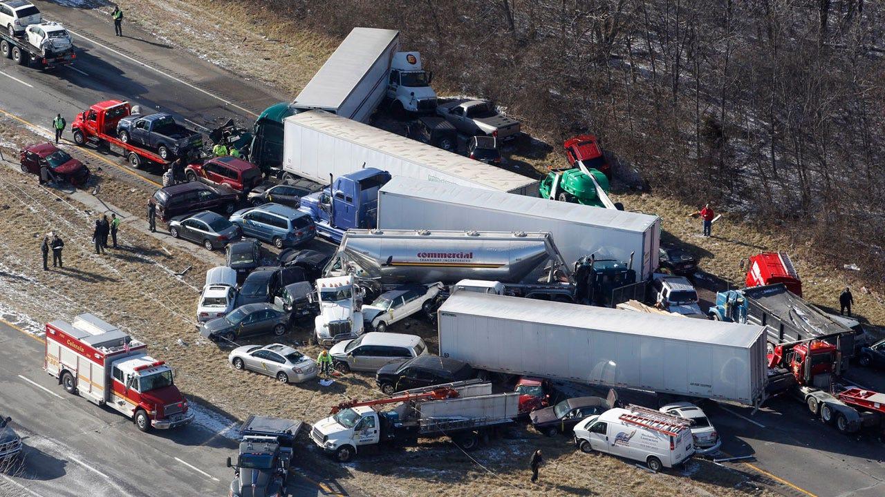 Multiple Car Crash In Ohio