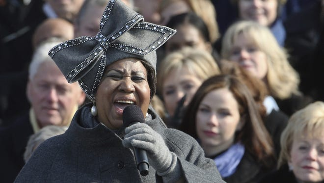 Aretha Franklin sang live at the swearing-in ceremony at the U.S. Capitol on Jan. 20, 2009.
