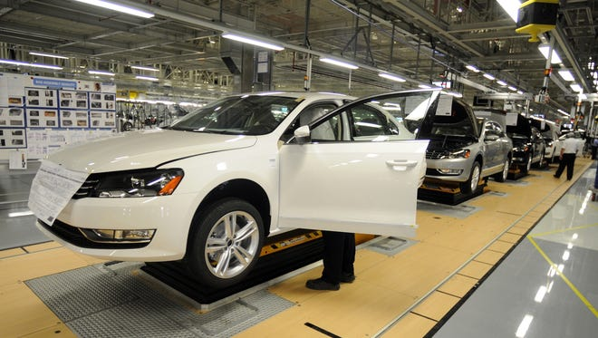 Volkswagen Passats on the assembly line in Chattanooga, Tenn., in this 2011 file photo.