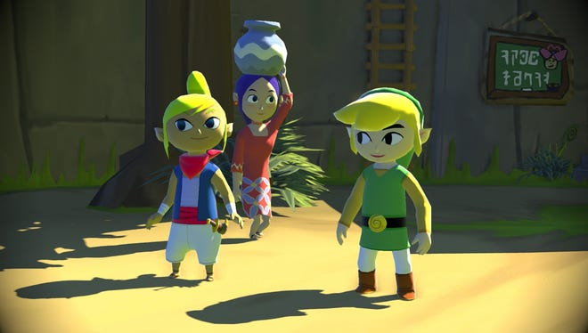 A scene from 'The Legend of Zelda: Wind Waker' for the Wii U.