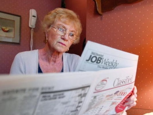 older americans working delayed retirement stock