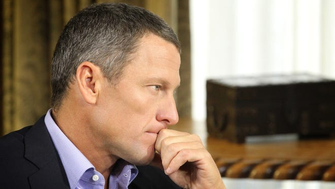 Lance Armstrong is seen here during an interview with Oprah Winfrey that aired on Jan. 17.