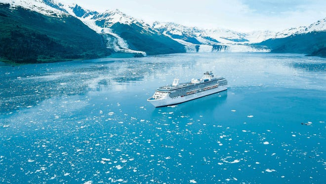 Princess Cruises' Coral Princess sailing in Alaska.