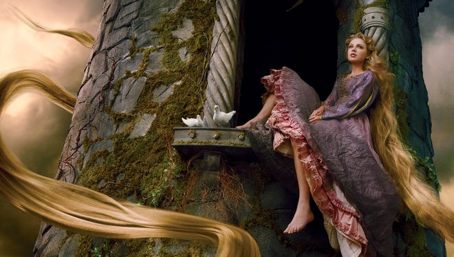 Taylor Swift poses as Rapunzel as part of the Disney Dream Portrait series by photographer Annie Leibovitz.