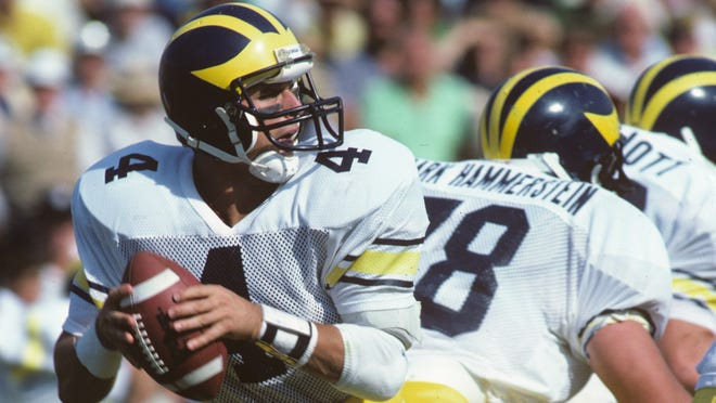 San Francisco 49ers coach Jim Harbaugh showed game management and leadership ability as a player at the University of Michigan that people still remember today.
