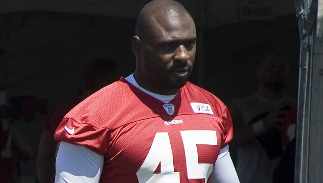 Discontented San Francisco 49ers running back Brandon Jacobs was cut by the 49ers, who were on their way to the Super Bowl. But he says he has no regrets.