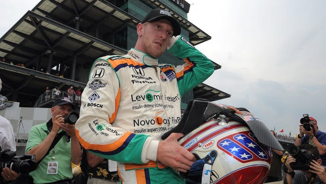 Charlie Kimball, who drives for Chip Ganassi's IndyCar team, was diagnosed with Type I diabetes five years ago.