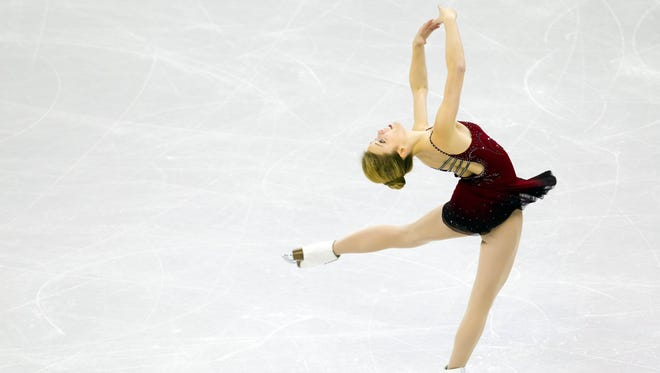 Ashley Wagner during the senior ladies short program. Wagner finished first overall.
