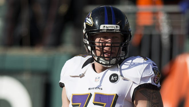 Baltimore Ravens center Matt Birk earlier this season.