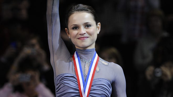 Sasha Cohen, seen here in 2010, has moved from the ice to the college classroom.