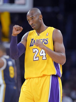 Lakers guard Kobe Bryant pumps his fist during Friday's 102-84 win vs. the Jazz.