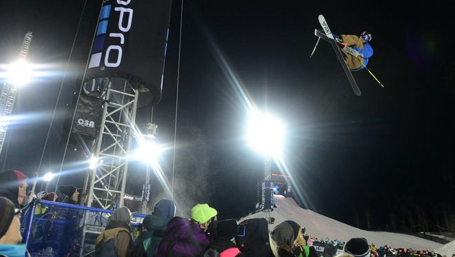 David Wise competes during the men's ski superpipe final Friday at the Winter X Games at Buttermilk Mountain in Aspen, Colo. Wise won the event.