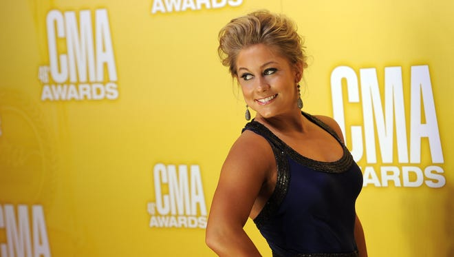 Shawn Johnson arrives at the 46th Annual Country Music Awards at the Bridgestone Arena on  Nov. 1, 2012, in Nashville.