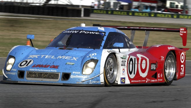 Juan Pablo Montoya's rousing final stint ended in historic victory Sunday for his team in the 51st Rolex 24 sports-car endurance race at Daytona International Speedway