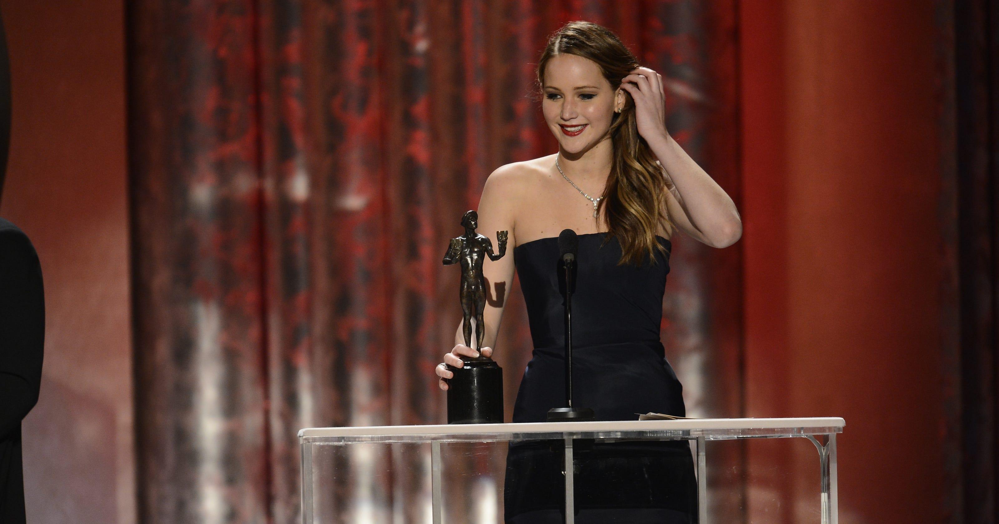 e2bdda50df Jennifer Lawrence got SAG start with  My Super Sweet 16