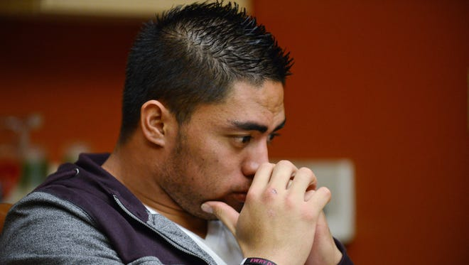 Notre Dame linebacker Manti Te'o during an interview with ESPN on  Jan. 18.