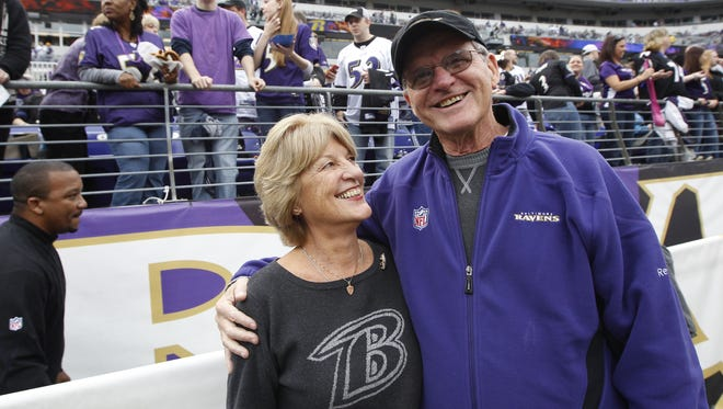 Jackie and Jack Harbaugh likely will be all over the TV during Super Bowl XLVII.
