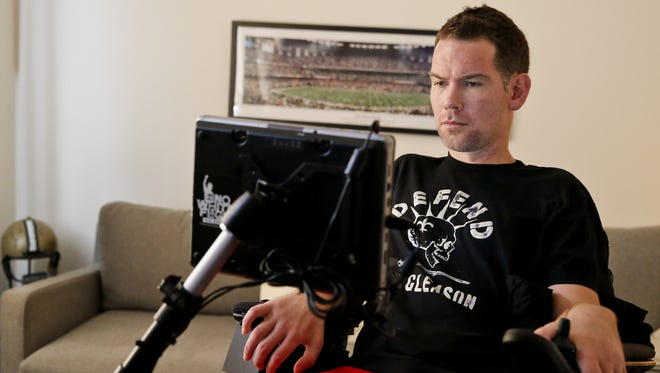 Former Saints special teamer Steve Gleason, who has ALS, appears at the end of the one-minute commercial about the disease.