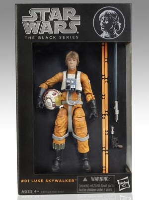"""Premiering this year, Hasbro's 6-inch """"Star Wars"""" Black Series line of action figures features characters from the original trilogy of films."""